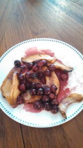 POP Juneberry compote poured over Mycopolitan King Trumpet mushrooms, prepared by W/N W/N Coffee Bar
