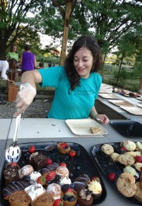 Alyssa performed a large amount of the work needed to put together September's first ever orchard-to-table dinner at Bartram's Garden.