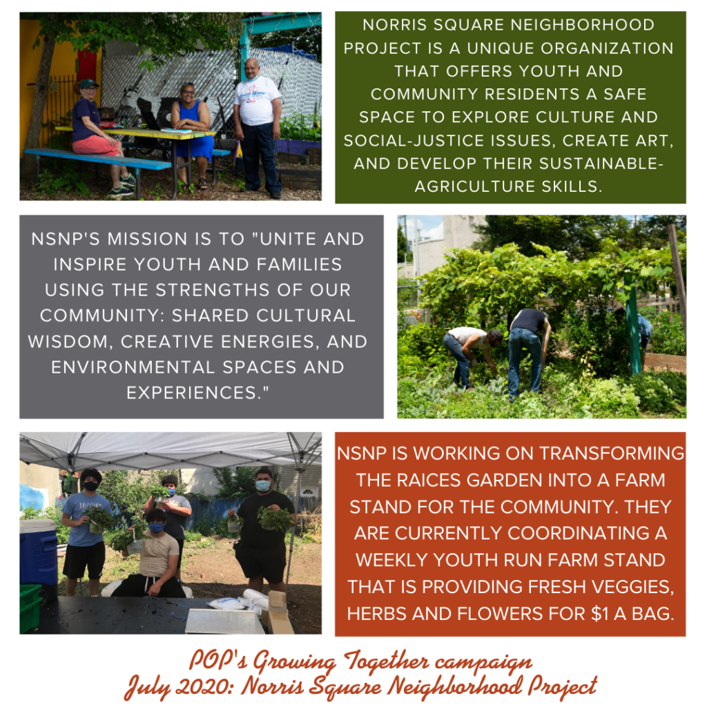 Photo collage from Norris Square Neighborhood Project describing their mission and work, originally featured in July 2020