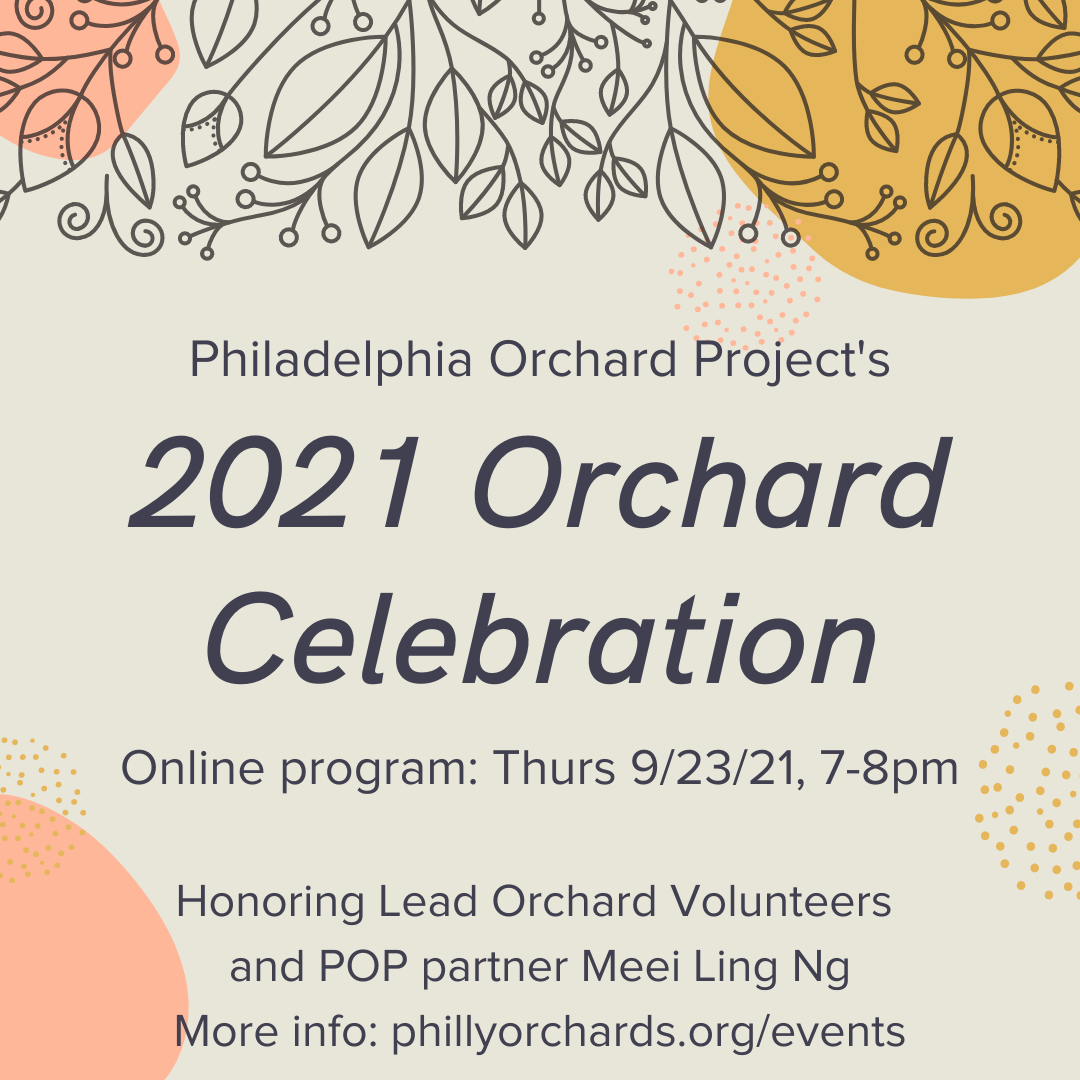 Flyer with details about the orchard celebration